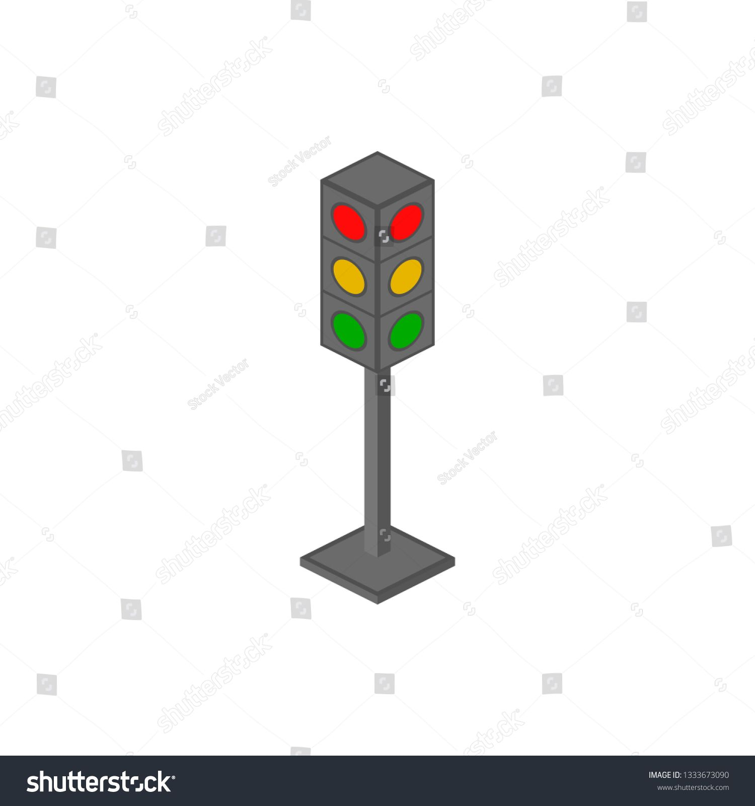 Traffic Lamps Isometric Icon Element Of Color Isometric Road Sign Icon Premium Quality Graphic Design Icon Signs An In 2020 Isometric Elements Of Color Traffic Lamp