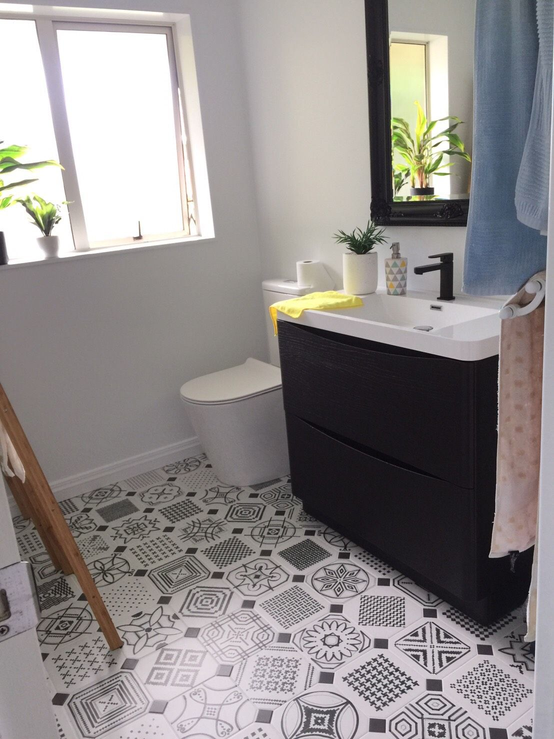 Monochrome Decorative tile Bathroom ideas Tile used