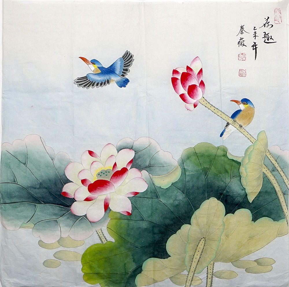 Wall art painting artwork hand lotus flower painting chinese brush wall art painting artwork hand lotus flower painting us 4800 chinese brush izmirmasajfo