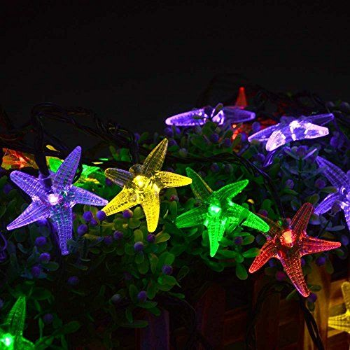 Original Starfish Solar String Lights 20 ft 30 LED Fairy Christmas Lights Decorative Lighting for IndoorOutdoor Garden Home Patio Porch Party and Holiday Decorations Multicolored ** Read more  at the image link.