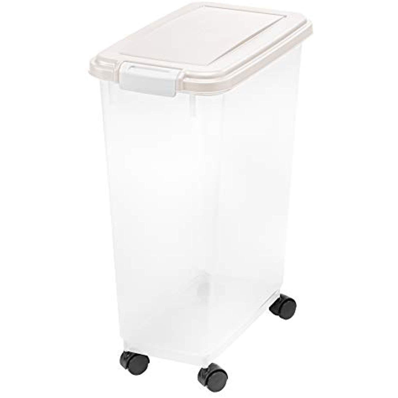 Inspired Essentials 301058 47 Qt Airtight Plastic Pet Food Storage