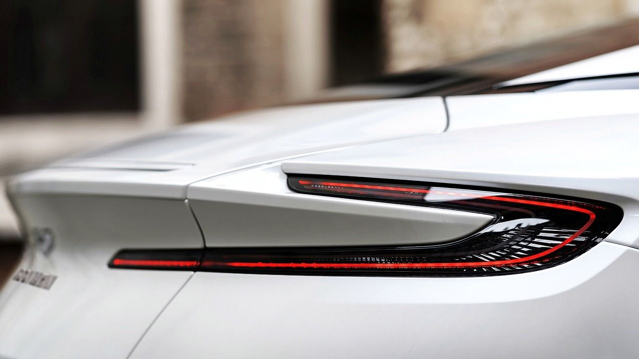 Top Vehicles Gorgeous Tail Light Of An Aston Martin Db11 Via