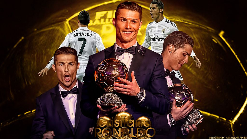 Cristiano Ronaldo Three Times Ballon Dor Winner HD Wallpaper - Stylish HD Wallpapers | Cristiano ronaldo, Ronaldo, Lionel messi wallpapers