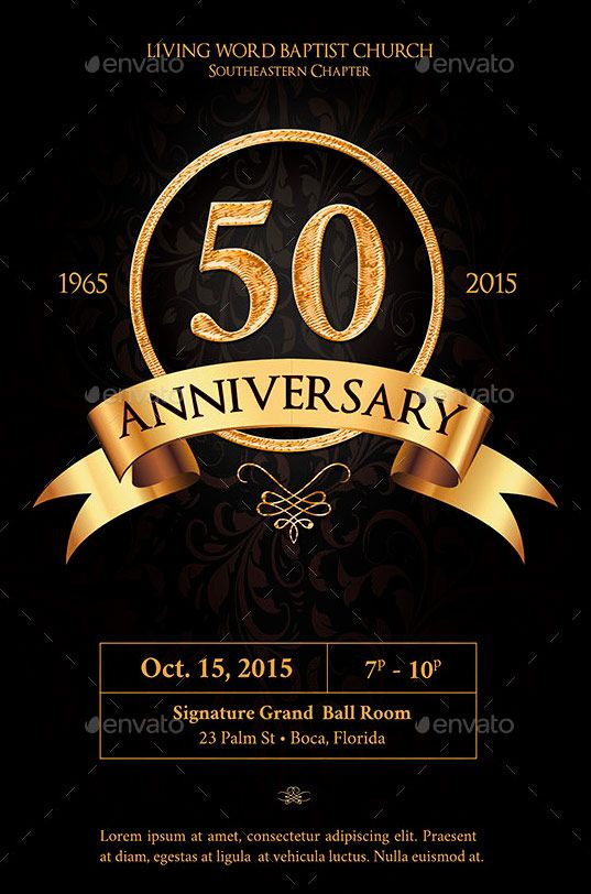 Anniversary Flyer Template  Graphicstank  Church Print Templates