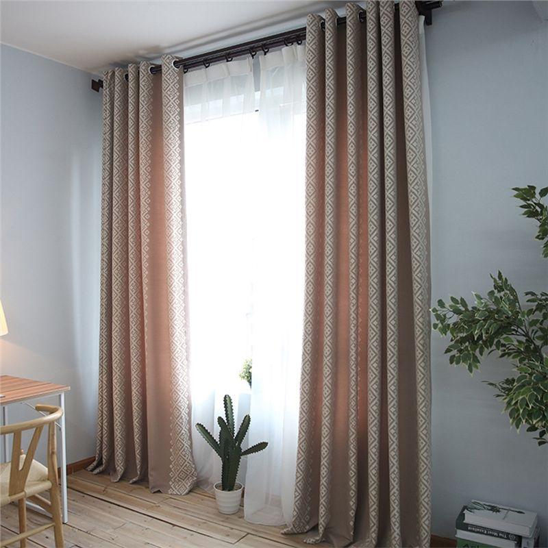 1er Pack) Moderner Vorhang Welle Design aus Leinen im Wohnzimmer in
