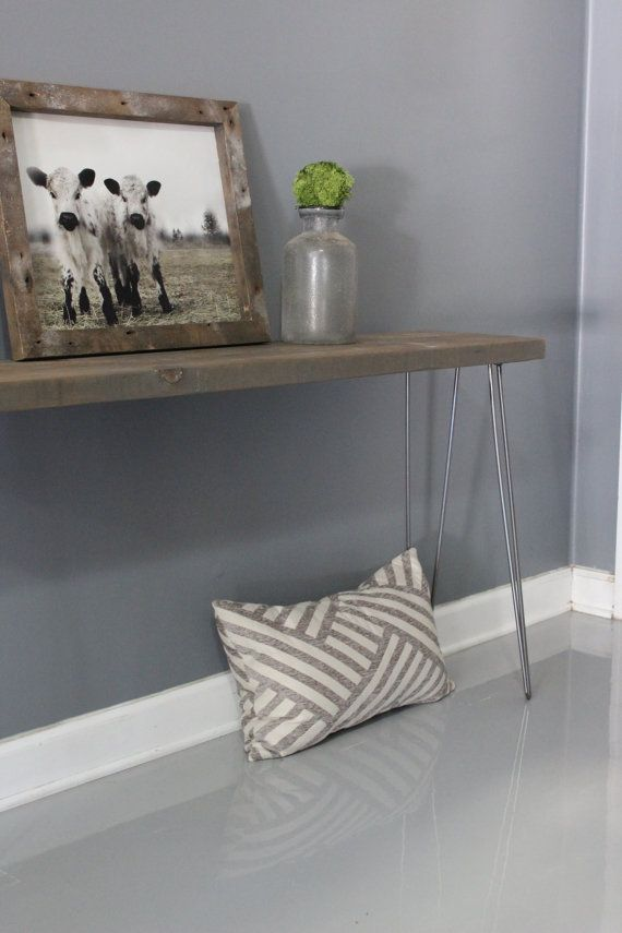 Wooden Table, Wood Console Table Reclaimed Wood Hairpin Legs, Chic, Reclaimed  Wood Furniture