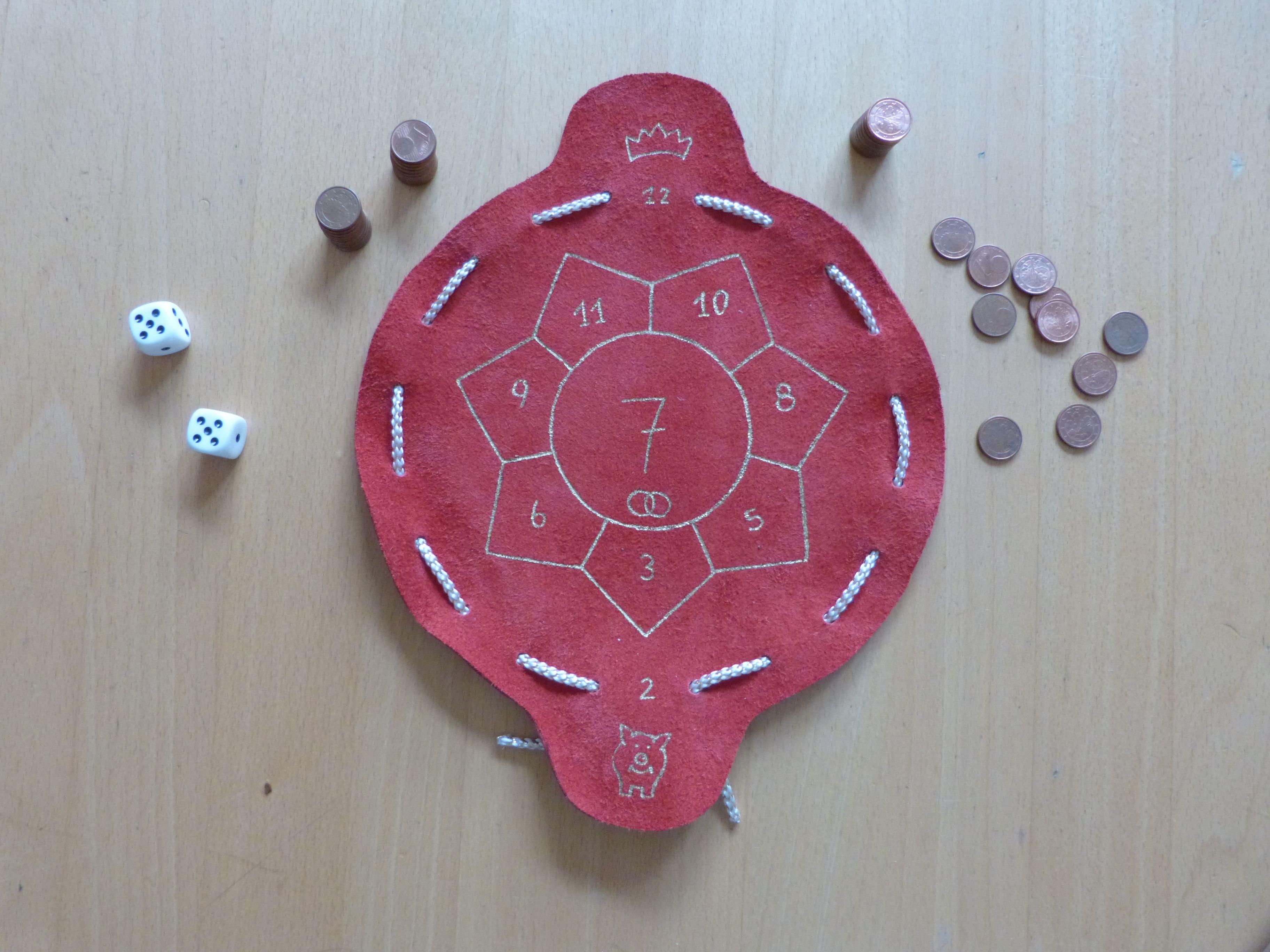 Spiel im Lederbeutel (Glückshaus) | Lederbeutel | Pinterest ...