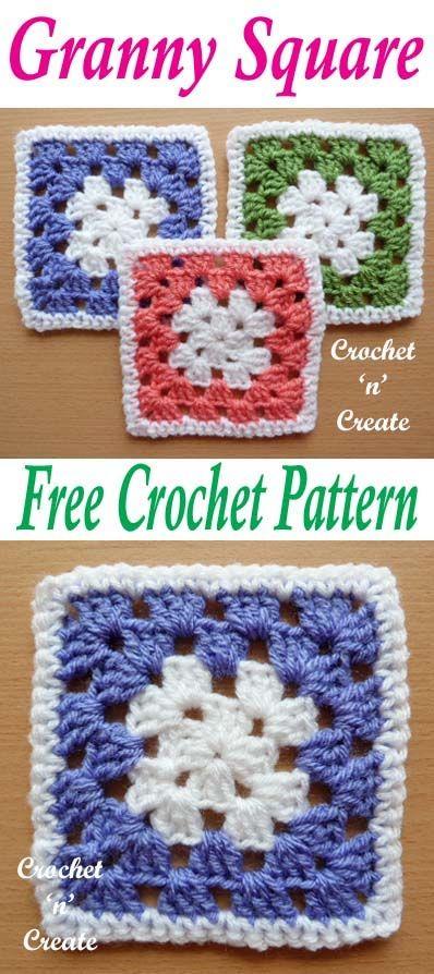 Crochet Granny Square Free Crochet Pattern | Free Crochet Patterns ...