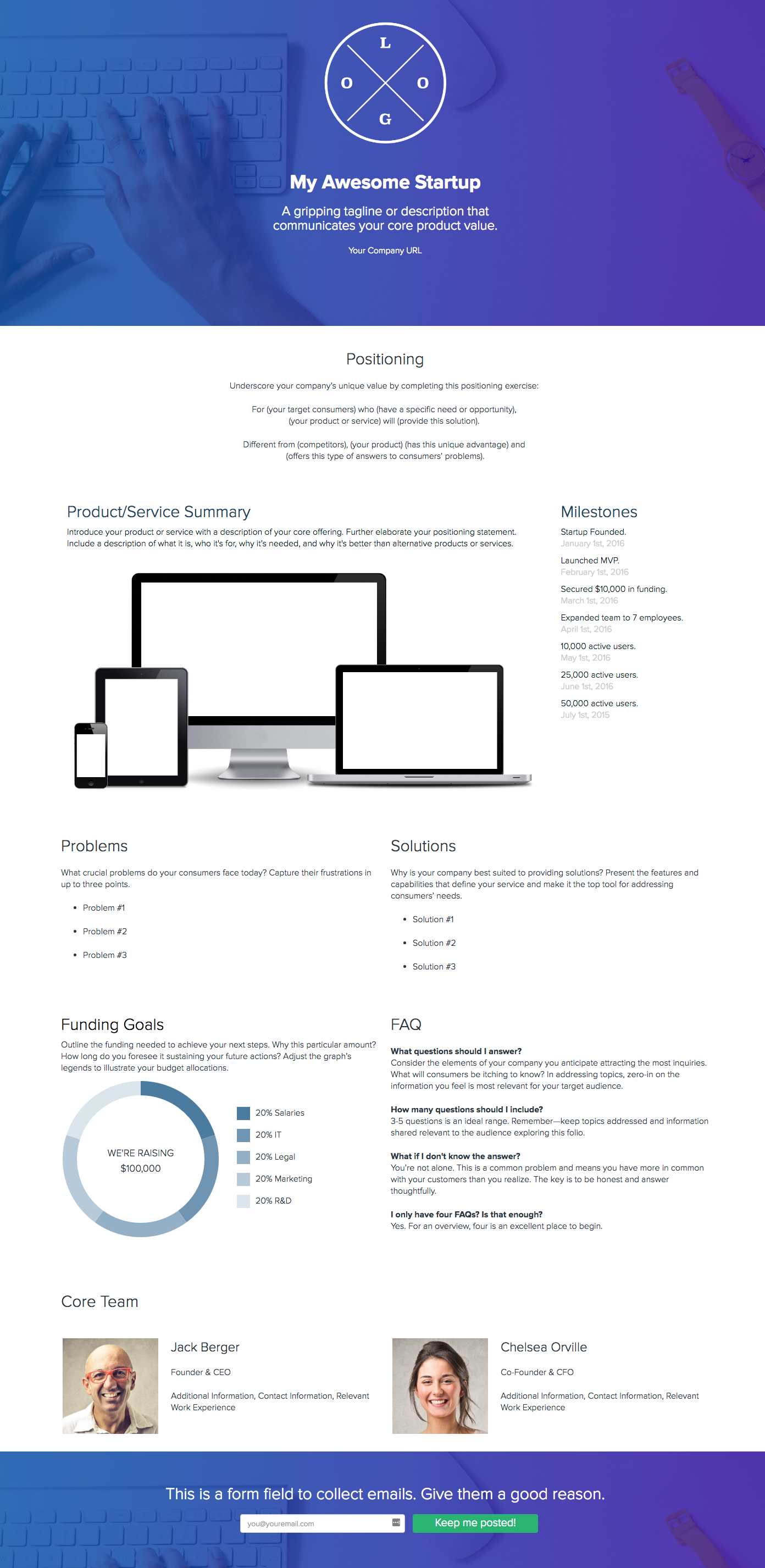 One Pager Template | How To Create A Company One Pager Supply Chain Create A Company