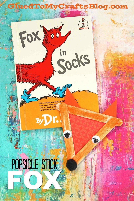 Popsicle Stick Fox In Socks - Kid Craft