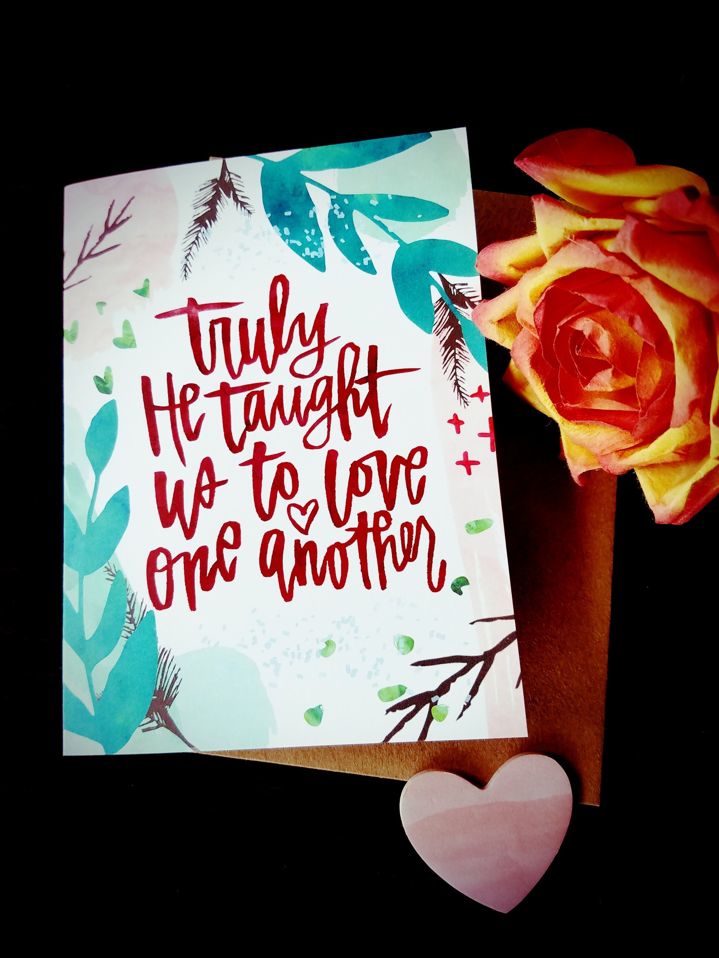 Love one another card 4 greeting card w coordinating envelope love one another card 4 greeting card w coordinating envelope blank inside kristyandbryce Choice Image