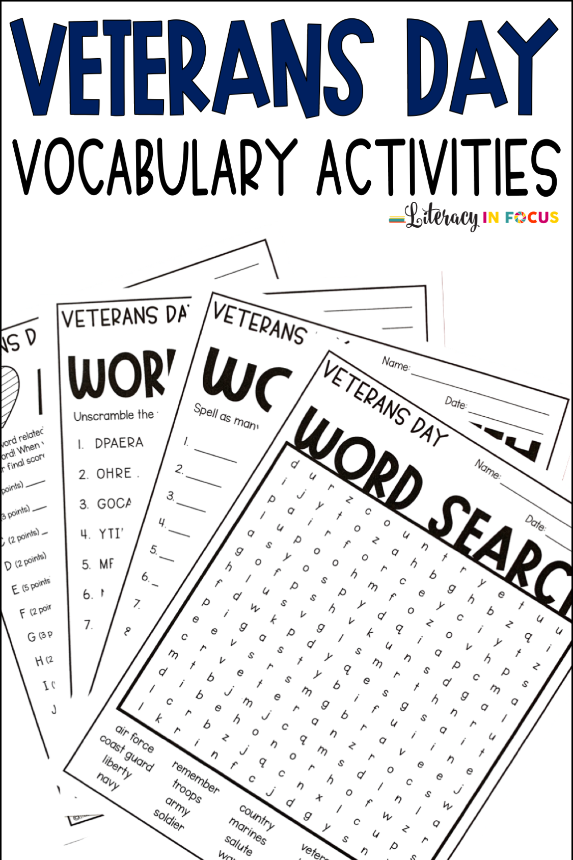 Celebrate Veterans Day With Vocabulary Activities Four