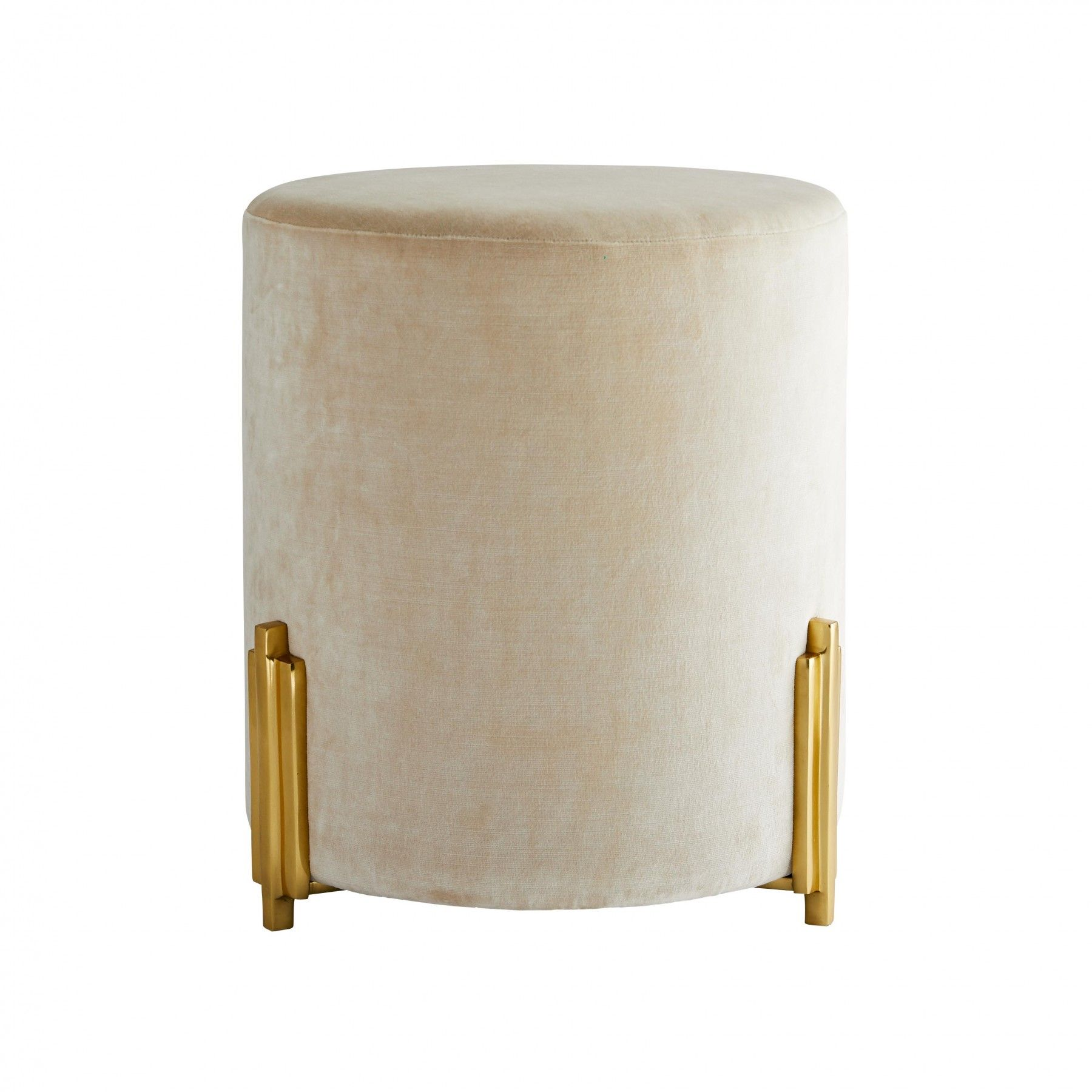 Warby Ottoman Sterling Velvet Ottomans Seating Furniture