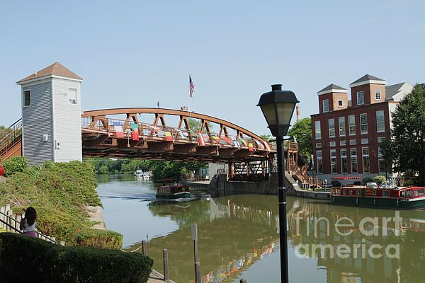 Fairport Lift Bridge Greeting Card for Sale by William