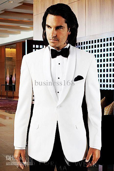 Wholesale Groom Tuxedos - Buy Custom Any Size White Groom Tuxedos ...
