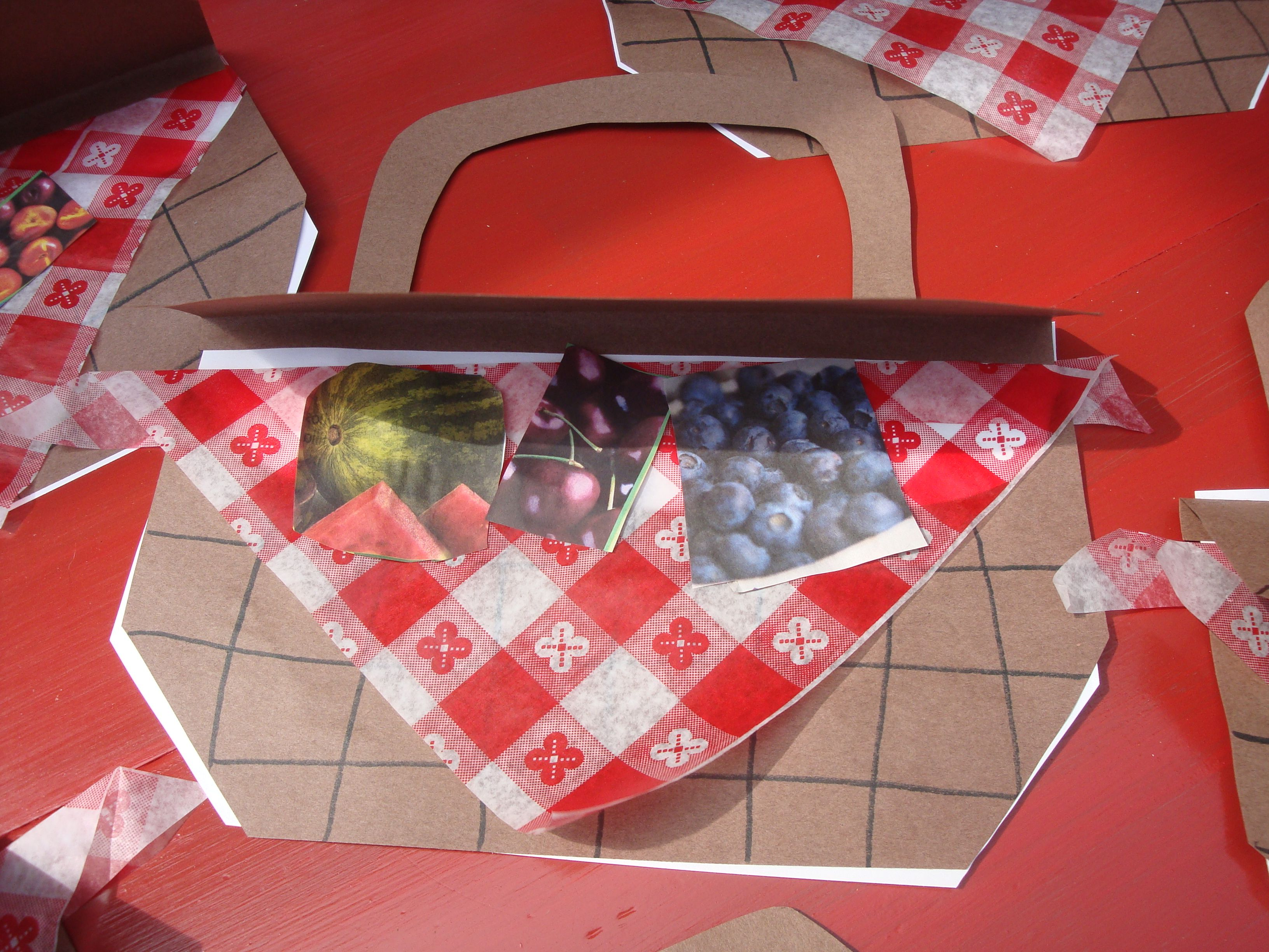 Picnic Basket Have Students Cut Pictures From Magazines Of Food They