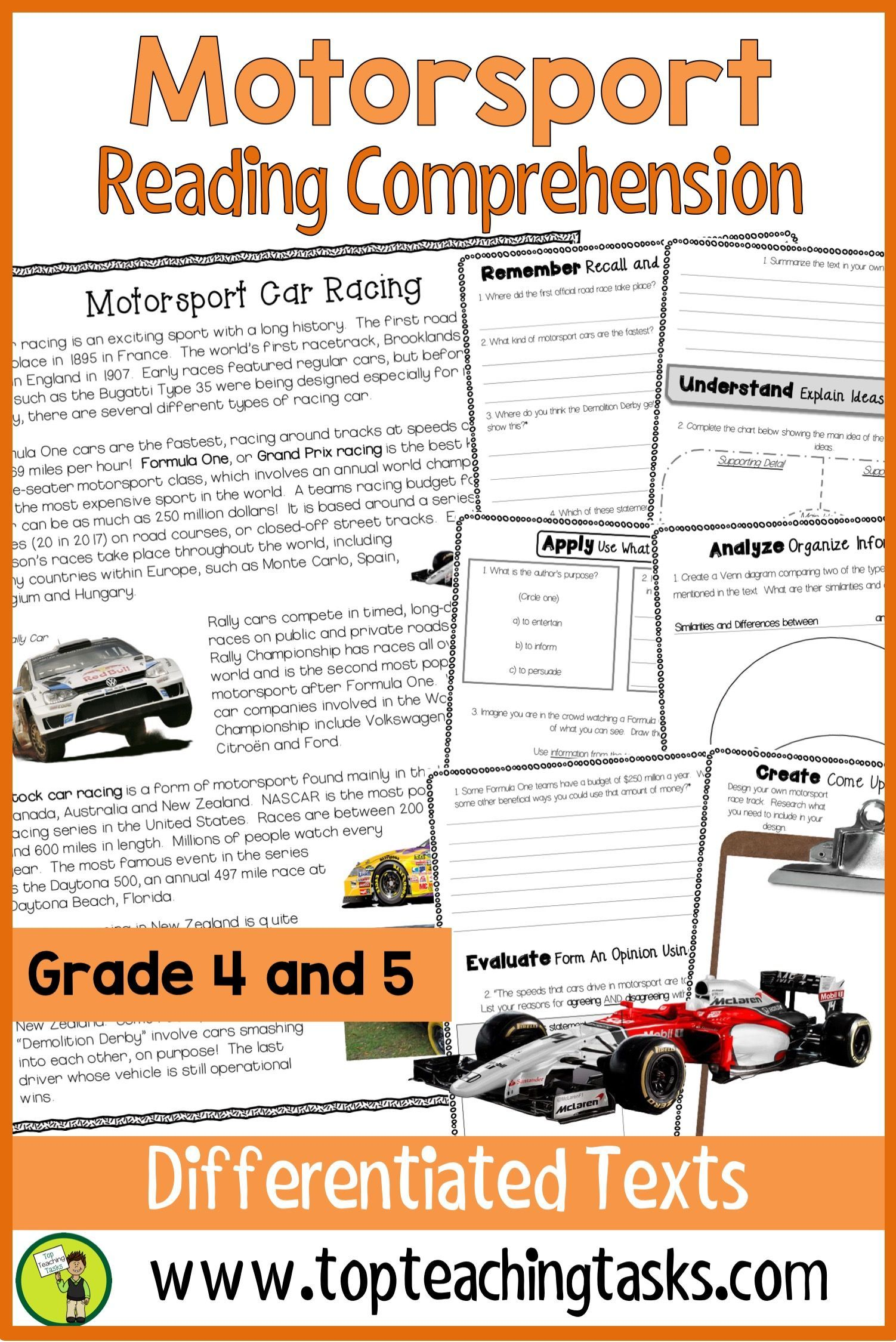 Motorsport Reading Comprehension Passages And Questions