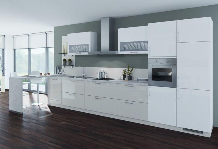 Küche in Grün #Küchenzeile wwwdyk360-kuechende Keittiöt Pinterest