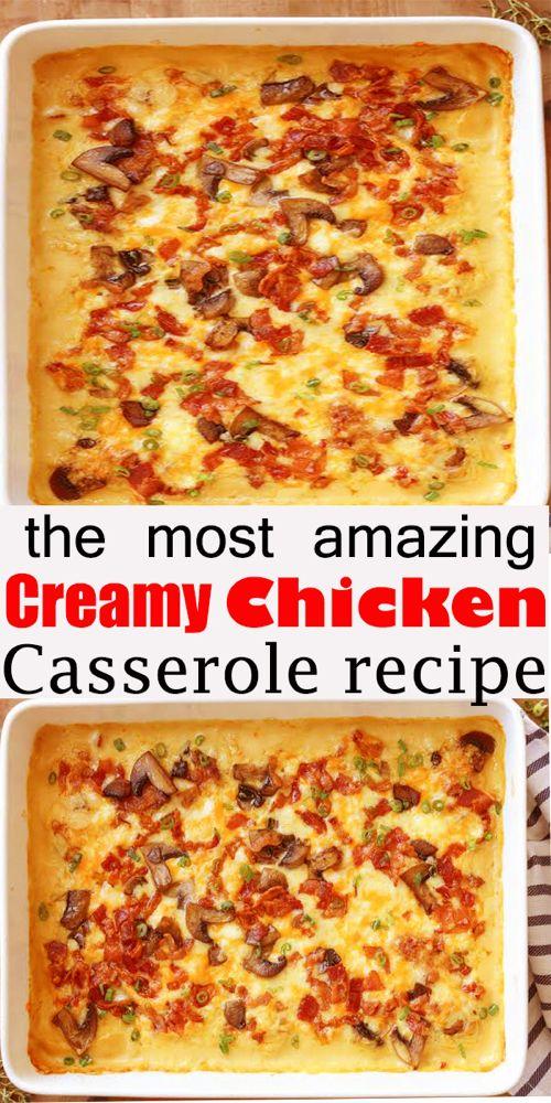 Creamy Chicken Casserole #Creamy #Chicken #Casserole ##chicken #creamychicken #chickencasserole #creamycassserole #casserole #chickendinner #easydinner #dinner #recipe #creamychickencasserole