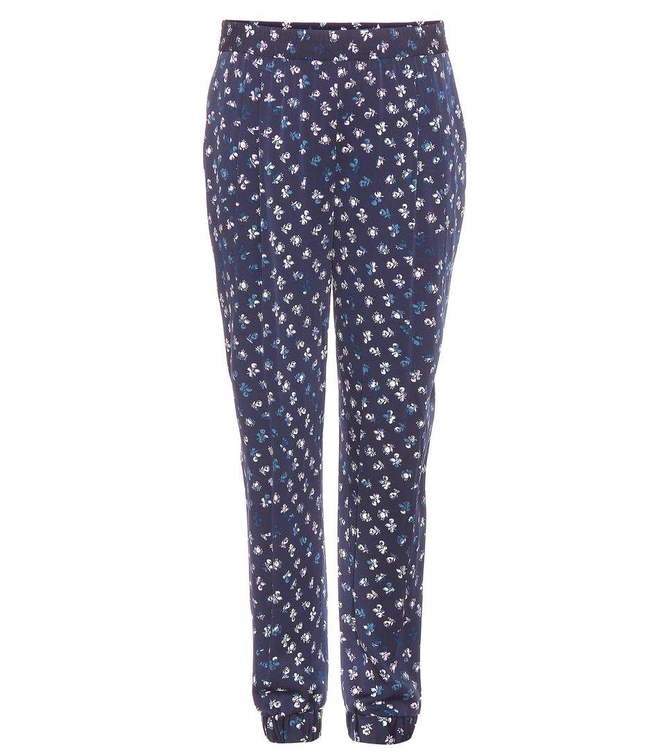 DIANE VON FURSTENBERG Janeta Printed Silk Trousers. #dianevonfurstenberg #cloth #trousers