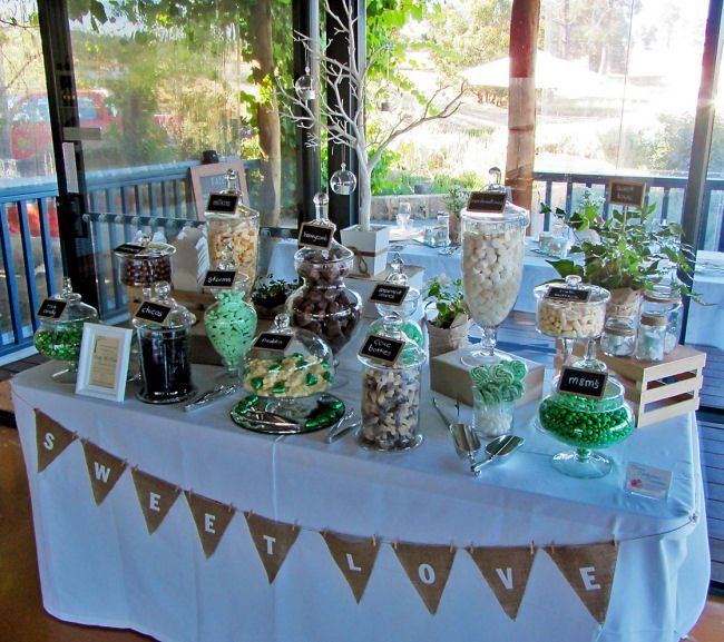 Wedding Candy Buffet Ideas: Oooh This Is Really Pretty. And The Hessian Goes With The
