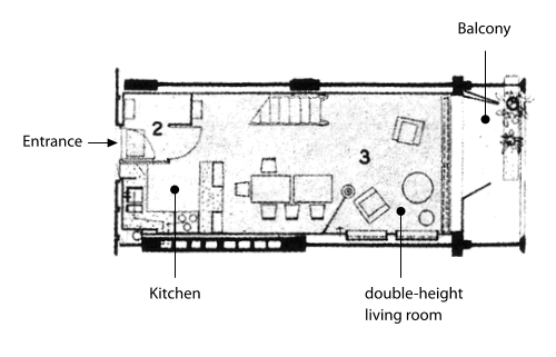 Charming Floor Plan Of A Flat In The Unité Du0027habitation In Marseille