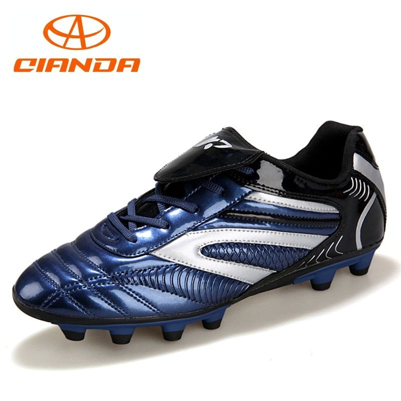 65b515933 QIANDA Professional Breathable AG Turf Football Shoes Wear Long Spike  Training Cleats Outdoor Soccer Boots Women   Men Sneakers Price   49.89    FREE ...