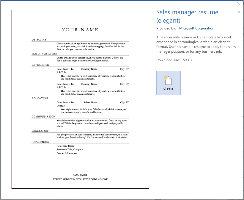 Step By Step how to create resume in MS word Template 2020