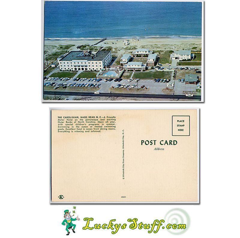 The Carolinian Nags Head Nc Postcard Outer Banks Nc Mom Sewing