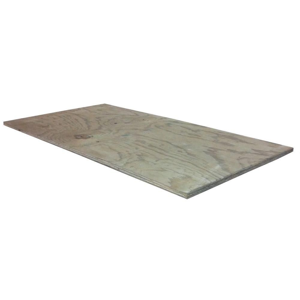 1 2 In X 2 Ft X 4 Ft Pt Cdx 1500104 The Home Depot Project Panels Rustic Hardwood Plywood Projects