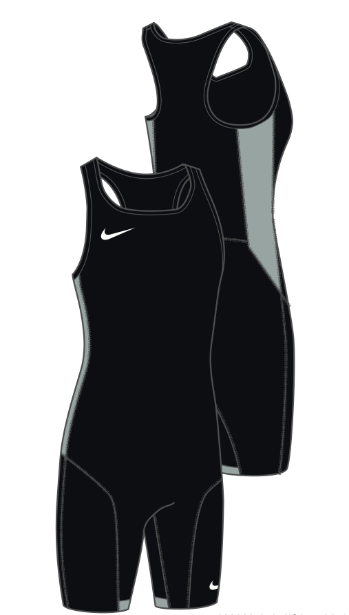 reputable site 657e3 8e236 Women s Nike Weightlifting Singlet - Black Pewter