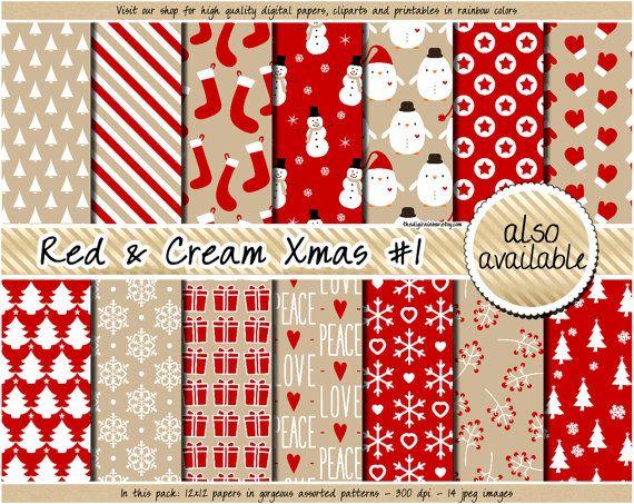 019f7722444f Christmas digital paper christmas printable paper kraft christmas digital  paper angel reindeer snowflake christmas tree santa gift