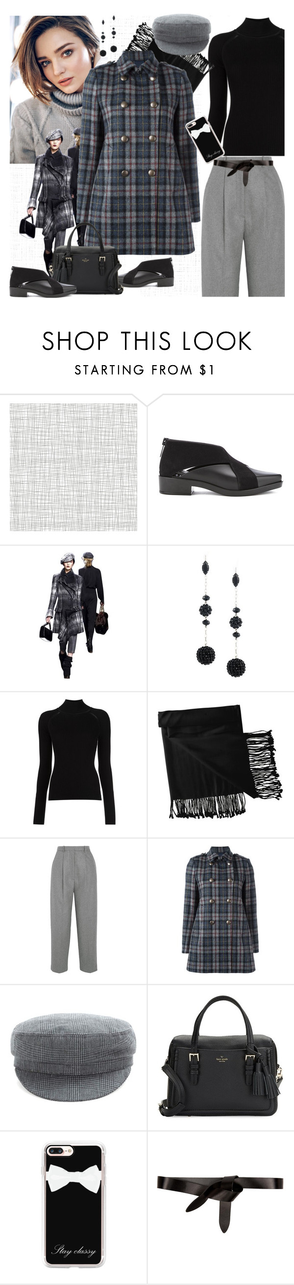 """Tartan"" by petalp ❤ liked on Polyvore featuring Kerr®, Christian Dior, Isabel Marant, Misha Nonoo, New Directions, Acne Studios, Aspesi, Étoile Isabel Marant, Kate Spade and Casetify"