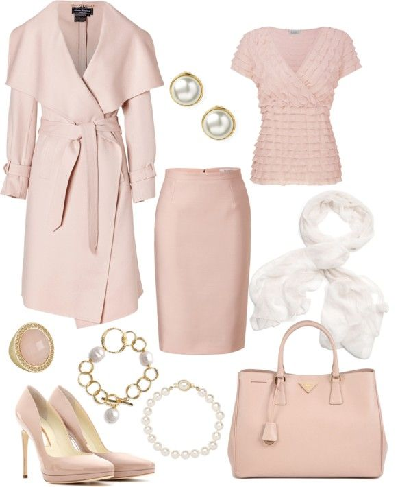 """Pink and Pearl"" by rothmank on Polyvore"