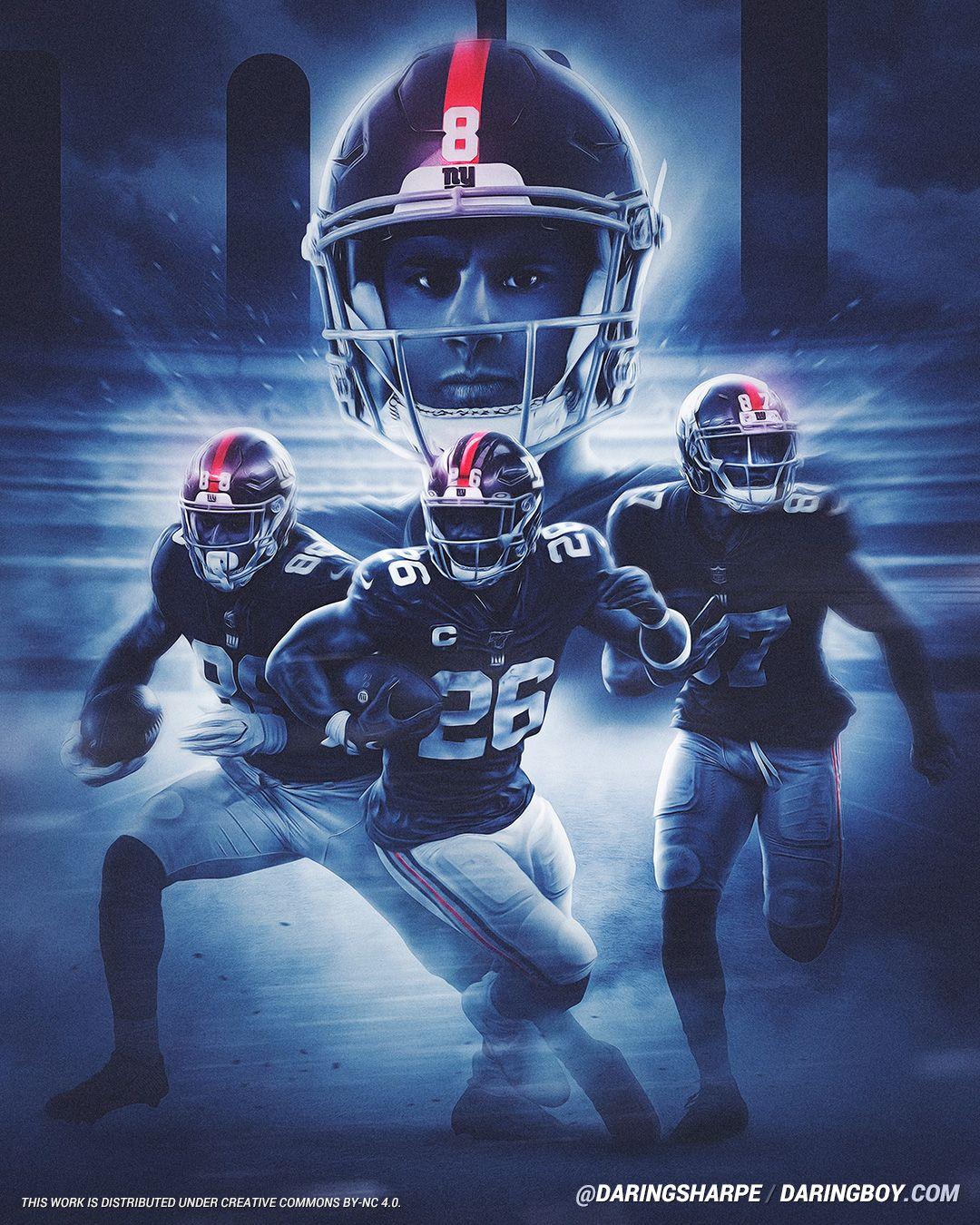 Daniel Jones Saquon Barkley Sterling Shepard Evan Engram New York Giants New York Giants Ny Giants Football Nfl New York Giants