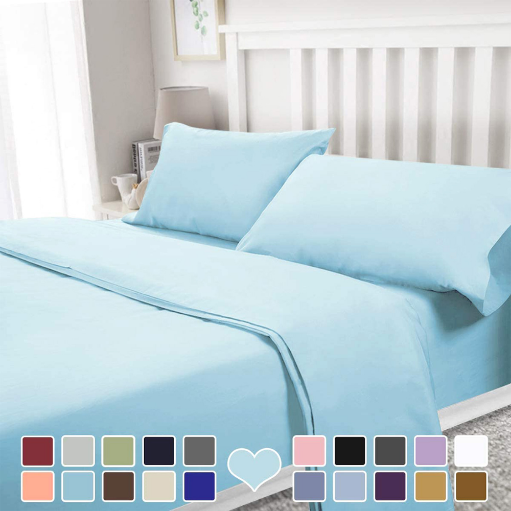 Bysure 4 Piece Luxury Bed Sheet Set Soft Durable Brushed Microfiber 1800 Thread Count Bedding Sheets With 15 Inch Dee Luxury Bed Sheets Bed Sheet Sets Sheets