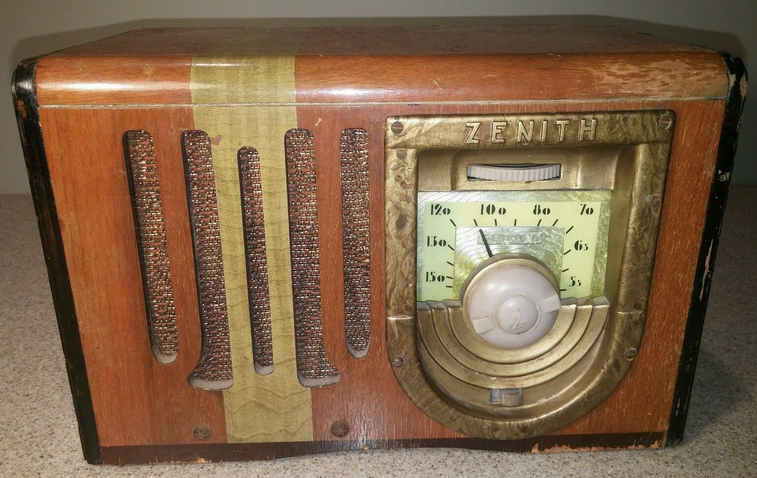 Vintage Zenith 6d425 Tube Radio Powers On 1939 1940 Parts Repair 6 D 425 Vintage Radio Antique Radio Radio