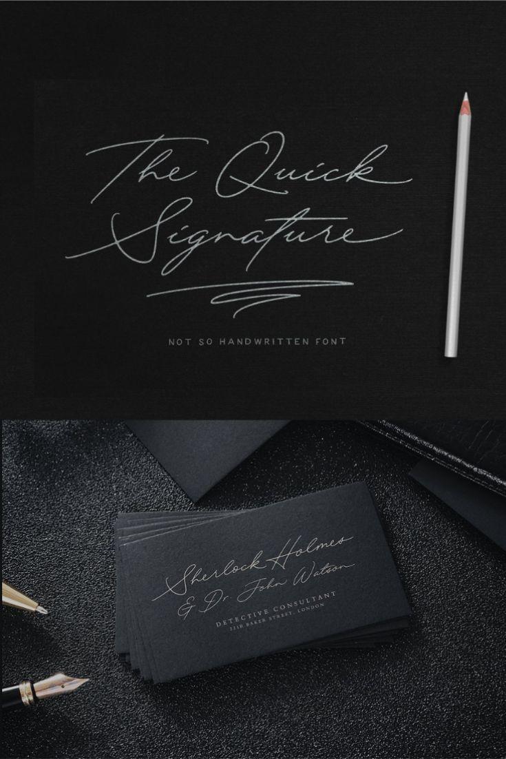 Quick Signature Pro Hand lettering fonts, Signature