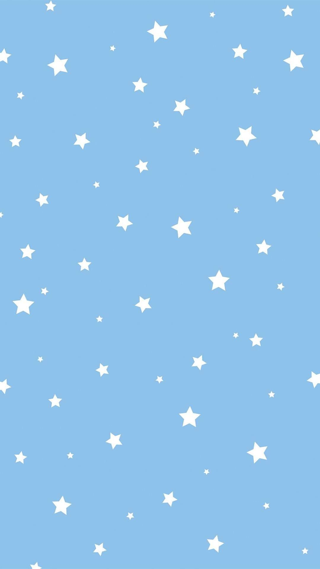 Blue stars Iphone background wallpaper