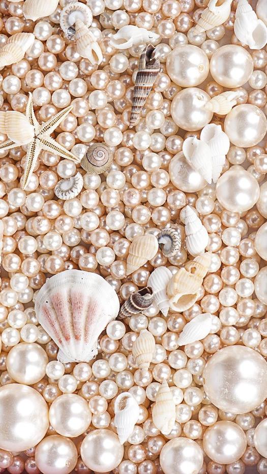 Pearls and Shells iPhone Wallpaper | Pearl wallpaper ...
