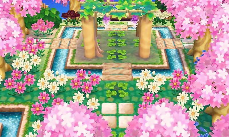 Animal Crossing New Leaf Wisteria Trellis Animal Crossing Animal Crossing 3ds Animal Crossing Qr