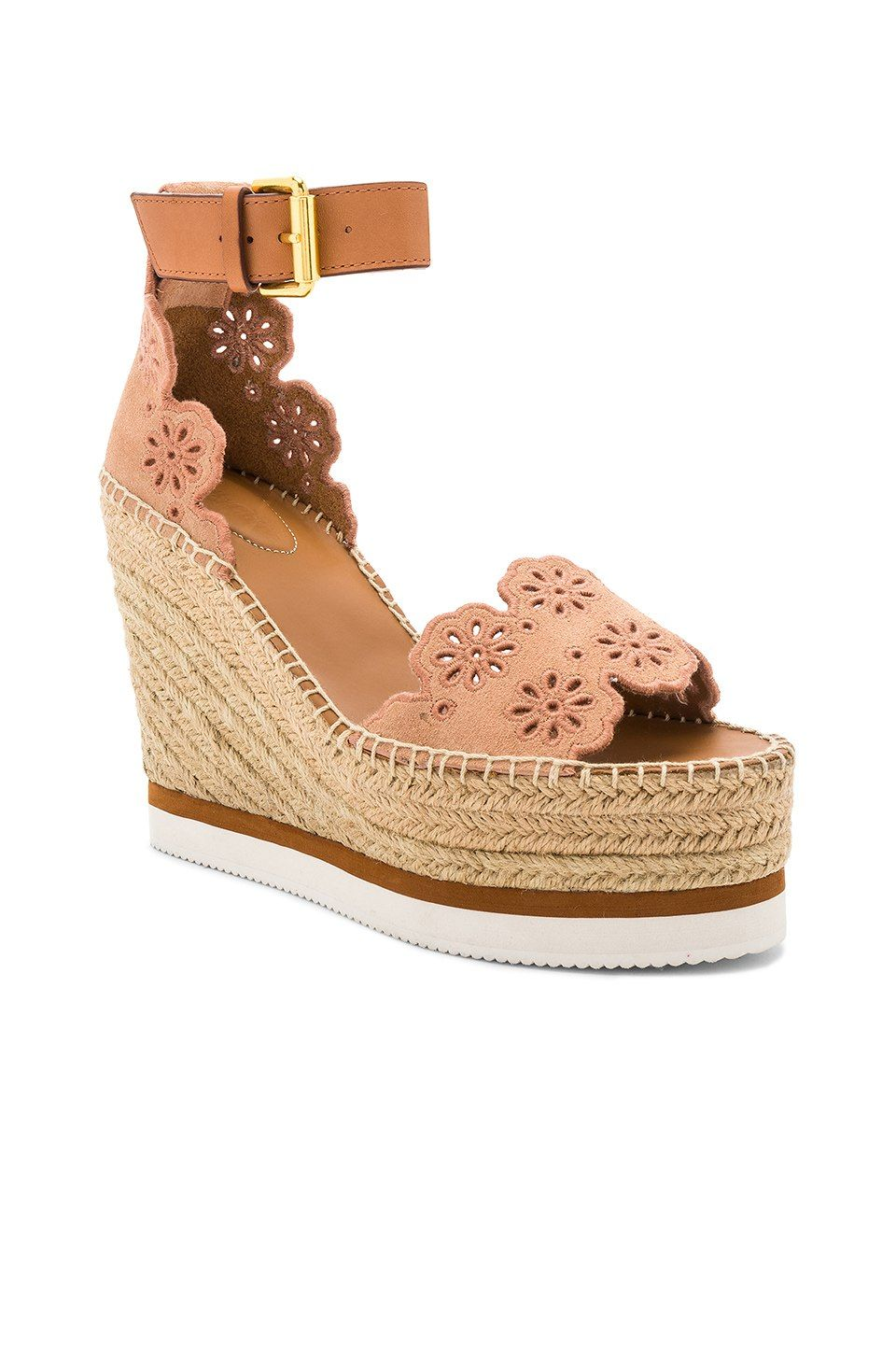493d7d9cab7d See By Chloe Glyn Wedge Sandal in Cipria   Natural Calf