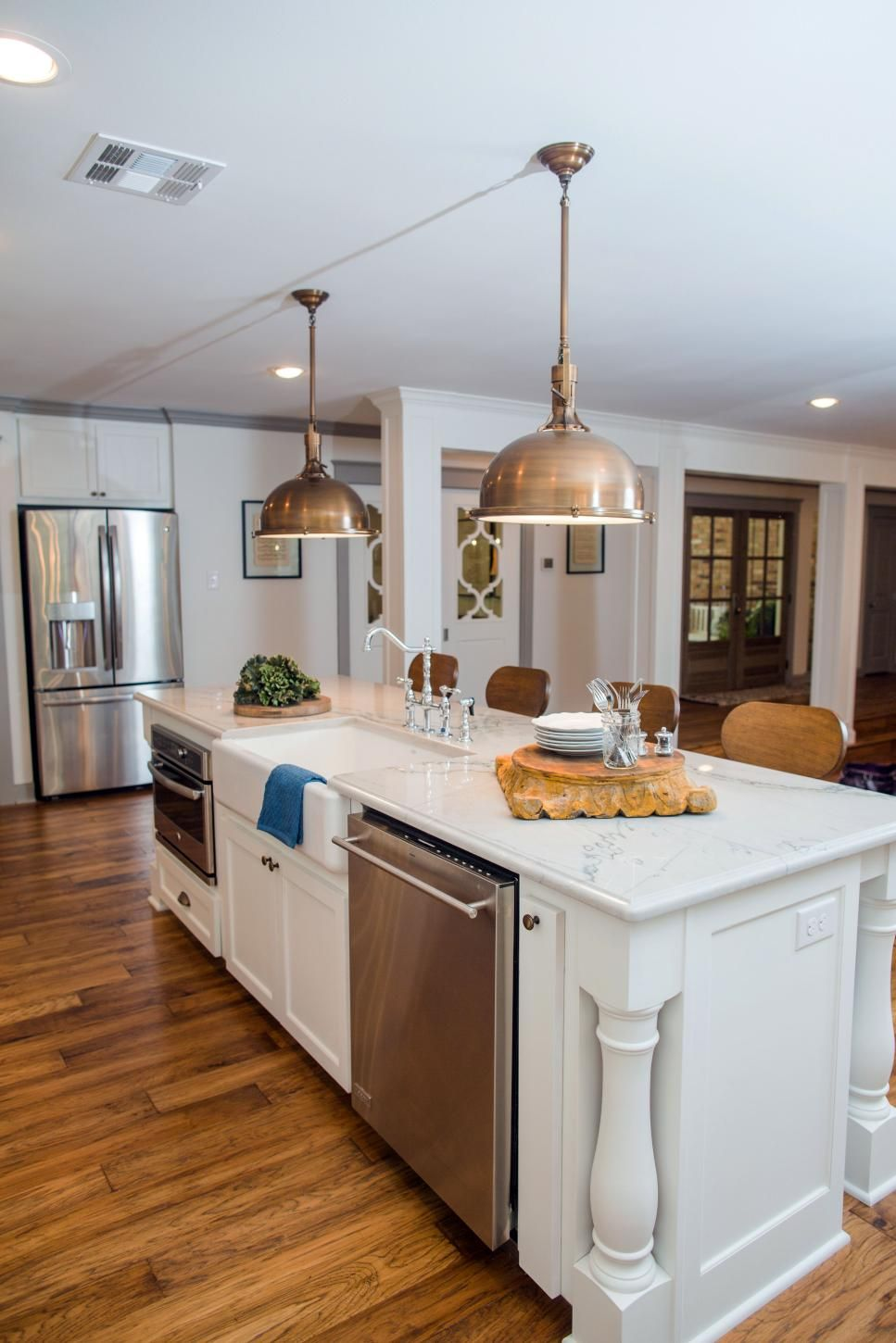 fixer upper a big fix for a house in the woods kitchen island with sink modern kitchen on kitchen layout ideas with island joanna gaines id=72771
