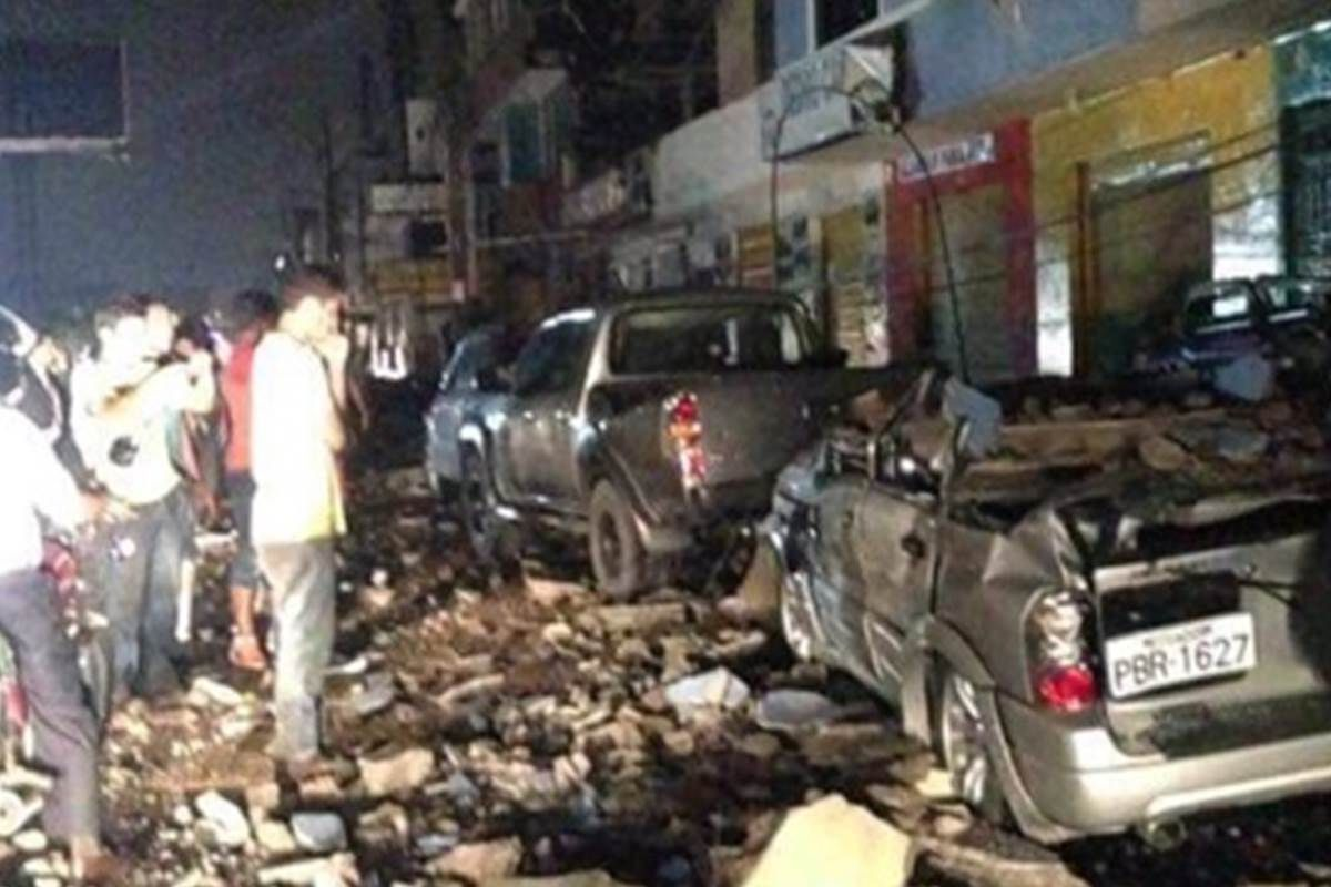 The temblor struck just before 7 p.m. local time 28 miles southeast of the coastal town of Muisne, located on the country's coast.