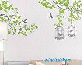 Vinyl Wall Decal Nature Design Tree Wall Decals Wall stickers Nursery wall decal wall art------in the garden