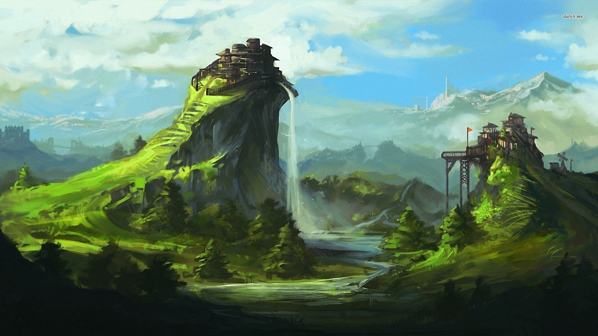 Guild Wars 2 Full Hd Wallpaper And Background Image: Guild Wars 2 Landscape Wallpaper