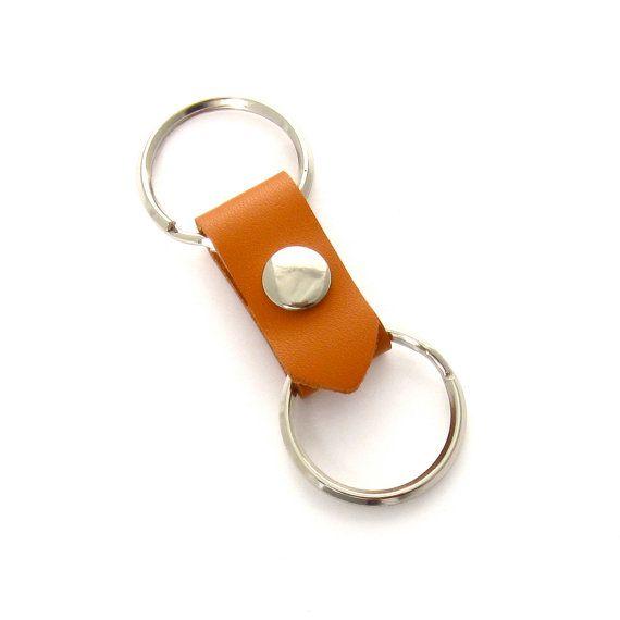 Orange Leather Valet Key Fob 68806185109e