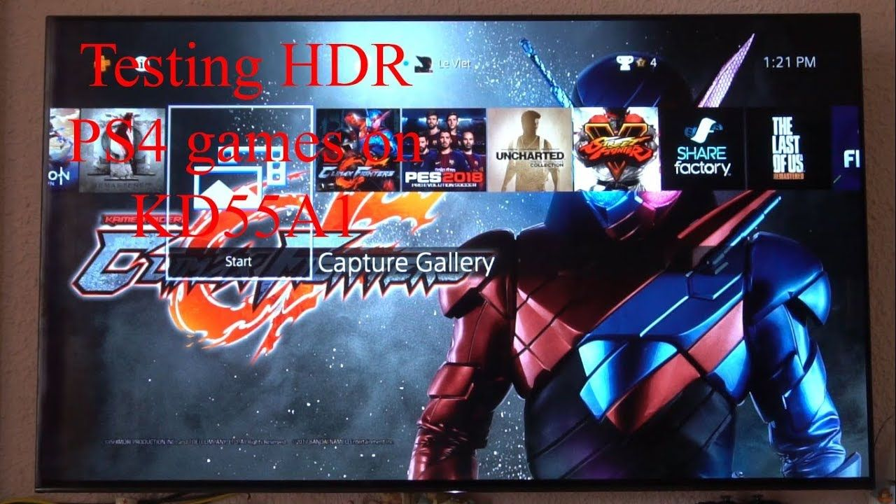 V GAMING] TESTING HDR WITH PS4 GAMES ON TV SONY BRAVIA OLED 4K