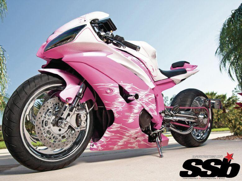 Pink Yamaha R6....she'...