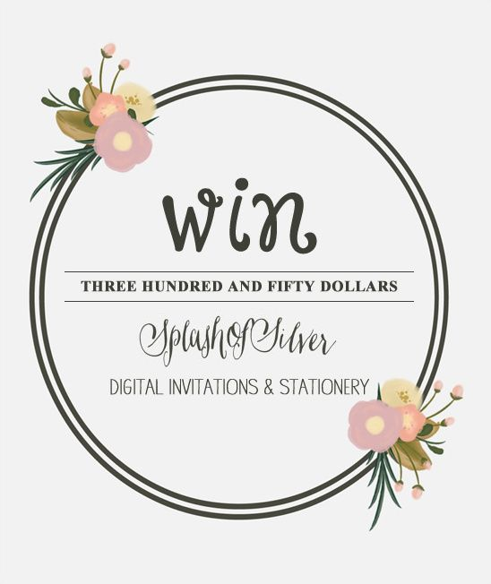 Wedding Invitation Giveaway: Wedding Paper Giveaway From SplashOfSilver